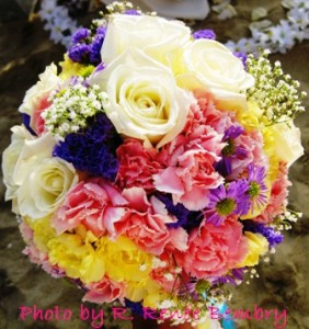 Wedding Bouquet Made From Fresh Flowers